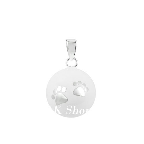Eudora Maternity Jewelry Mix Styles White Chime Bola Pendant Angel Caller Necklace Jewelry For Pregnant Women N14NB-W