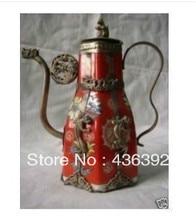 Vintage Tibetan Porcelain Pot