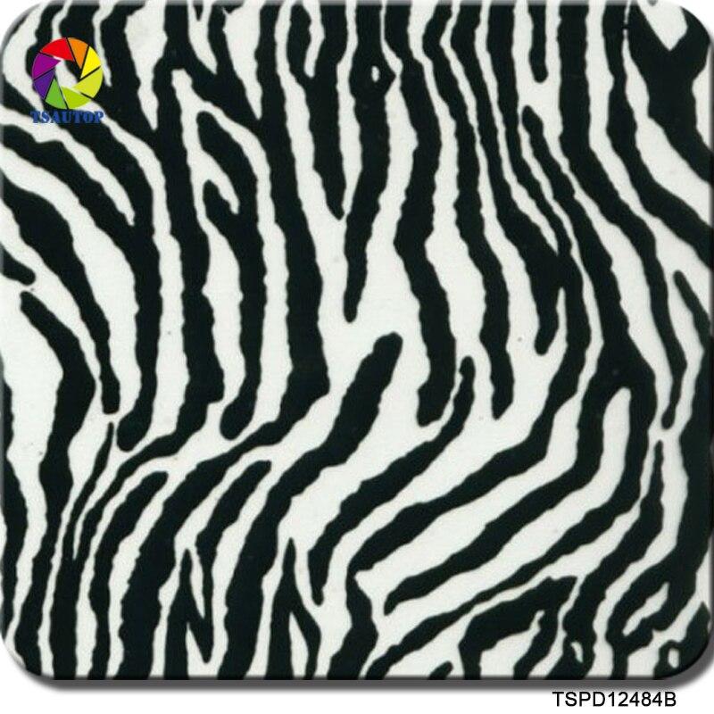 Free Shipping 0.5mX2m/10m Zebra Pattern TSPD12484B Water Transfer Printing Hydro Dipping Film