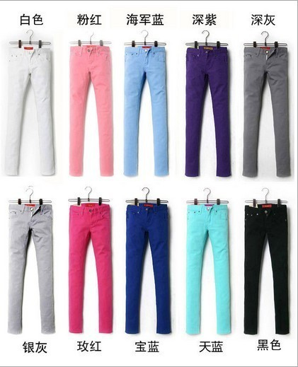 Boots pants colored pencil pants candy color legging plus size pants skinny jeans Summer trousers Free Shipping Drop shipping
