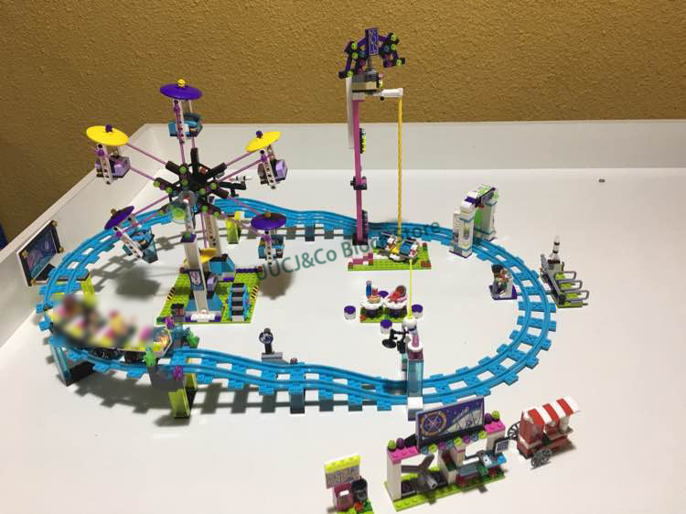 LEPIN e 01008 1124Pcs Park Roller Coaster Building Blocks sets city girls friend Amusement compatible with blocks Toys 41130 2016 new lepin 01008 1124pcs amusement park coaster building kits girl friend blocks bricks toys compatible gift 4113