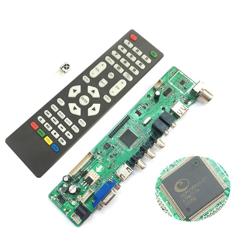 все цены на hot-Support 7-55in V56 Universal LCD TV Controller Driver Board PC/VGA/HDMI/USB Interface USB play video/photo function онлайн