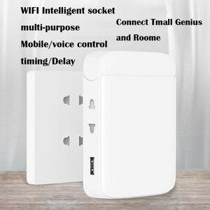 Image 1 - Tomada de parede wifi multi função casa inteligente tomada wifi casa placa de fiação usb inteligente desktop tomada de escalada de parede multi plug strip