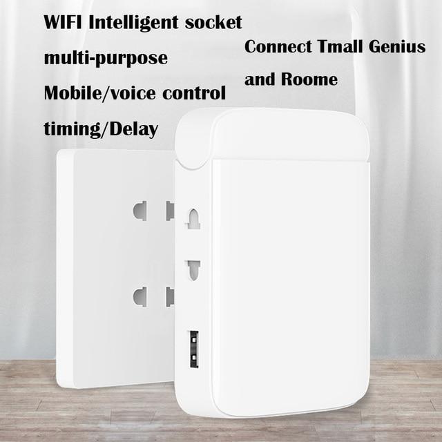 Tomada de parede wifi multi função casa inteligente tomada wifi casa placa de fiação usb inteligente desktop tomada de escalada de parede multi plug strip