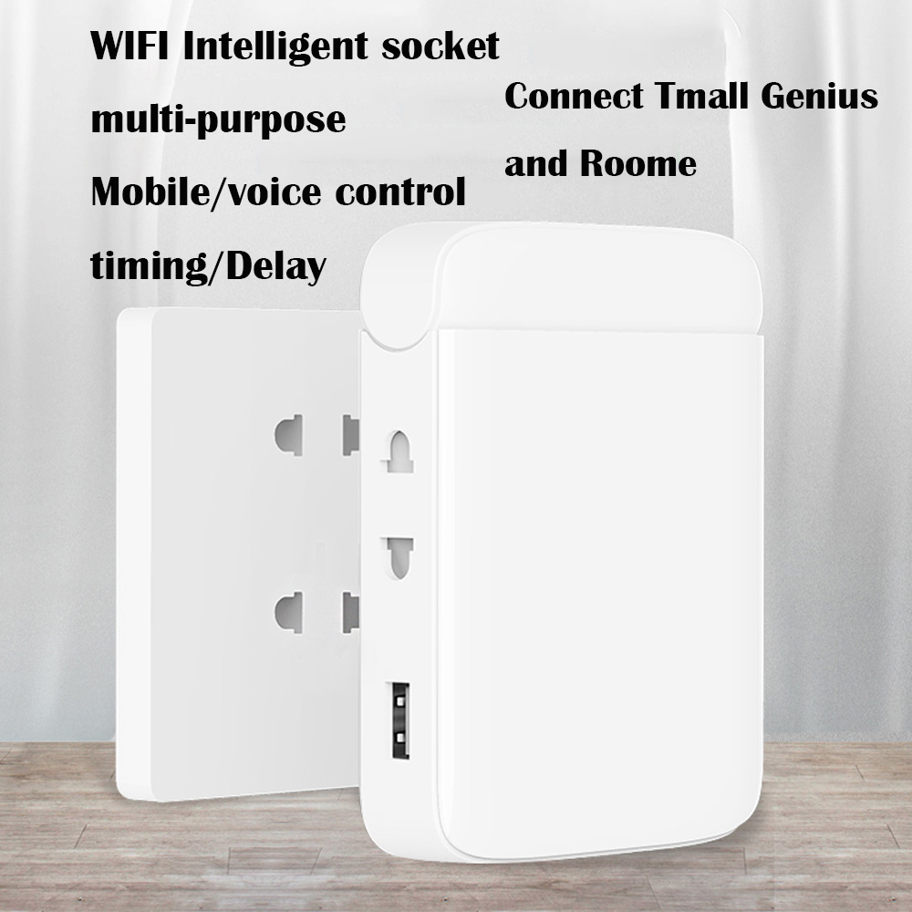 wall socket wifi Multi function smart home socket wifi home wiring board USB smart desktop socket climbing wall multi plug strip-in Smart Remote Control from Consumer Electronics