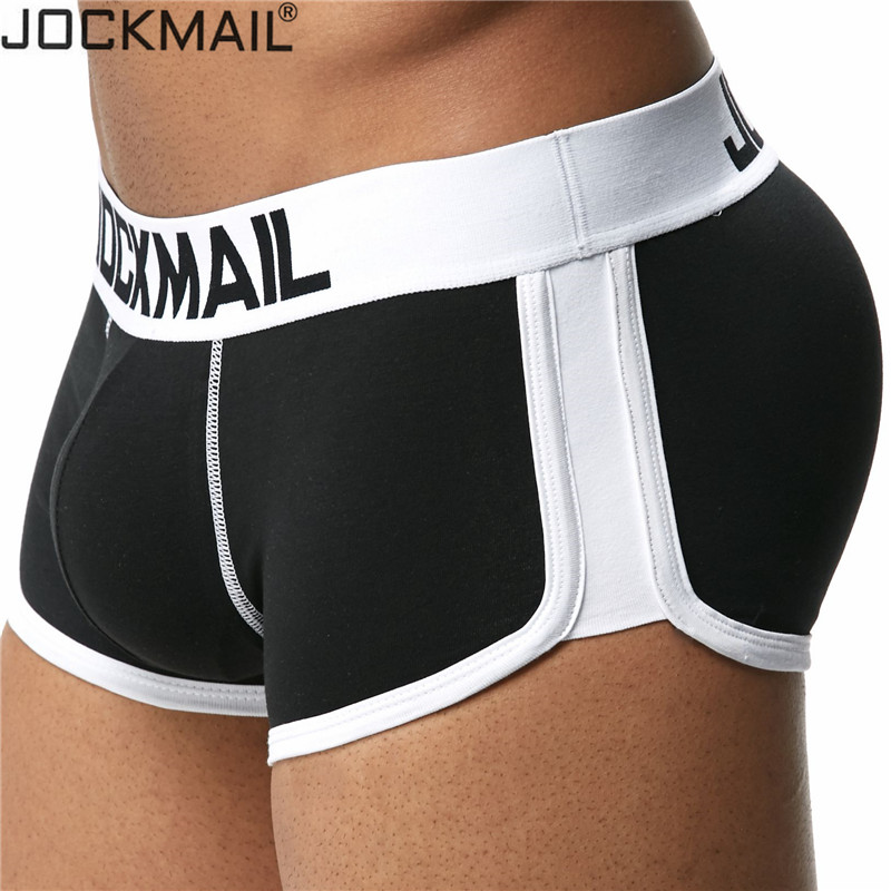 JOCKMAIL Enhancement Sexy Men Underwear Penis Boxer Push Up Boxershorts Hip-up Butt Lifter Package Enhancing Padded Trunk Gay