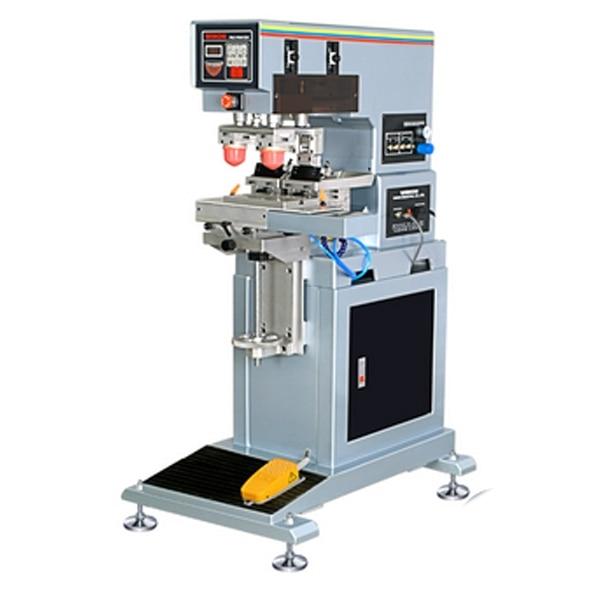 Verticale doppio colore pad stampante, macchina tampografica 2 colori