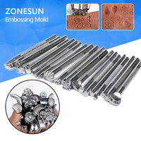 New 20pcs Lot Diy Leathercraft Leather Pattern Engrave Stamping Embossing Mold Leather Printing Beveling Tool Set