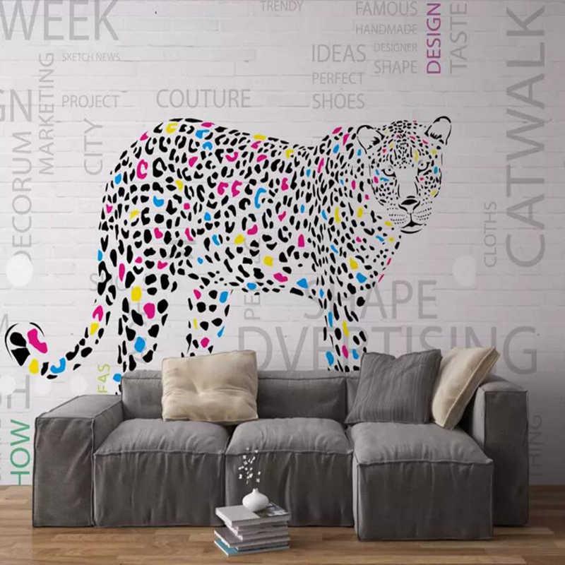 Wallpapers Youman Hand Painted Leopard Animal Wallpaper 3 D Wall Custom Modern Wallpaper Kitchen Desktop Decor Newspaper Mural