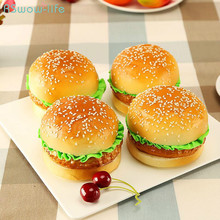 Simulated Bread Model PU European Hamburger Fake Display Photographic Props Home Decoration Window Artificial Food