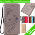 For Microsoft Nokia Lumia 640 N640 butterfly printed pattern Leather Case TPU Back Cover Flip Shell Stand Wallet Bag Card Holder