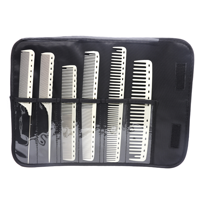 Mythus Resin Unbreakble Hairdressing Cut Comb Antistatic YS Haircut Comb Styling Hair Tail Comb For Hairdresser 6pcs With Bag