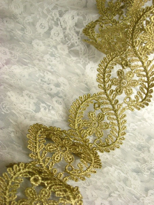 Embroidery Lace Trim Golden Lace Mesh Fabrics for Bridal Wedding Gown  Supplies, GT040-in Lace from Home & Garden on Aliexpress.com | Alibaba Group