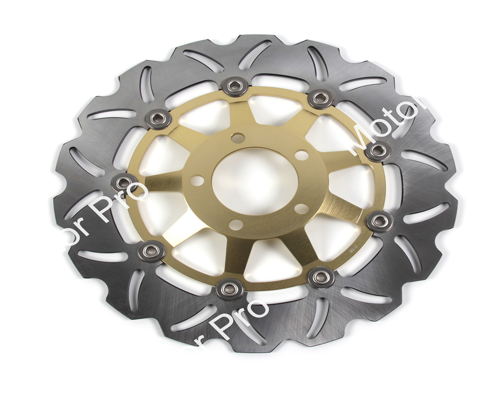 GSXR1100 For Suzuki GSX R 1100 1989-2000 Front Brake Disc Disk Rotor GSXR GSX-R 750 90 91 92 1993 1994 1995 1996 1997 1998 1999 motorcycle parts 1 pair black stainless steel mechanical motorbike front rear disc brake rotor fit for suzuki gsx r 750 2000 2001 2002 2003 front l r