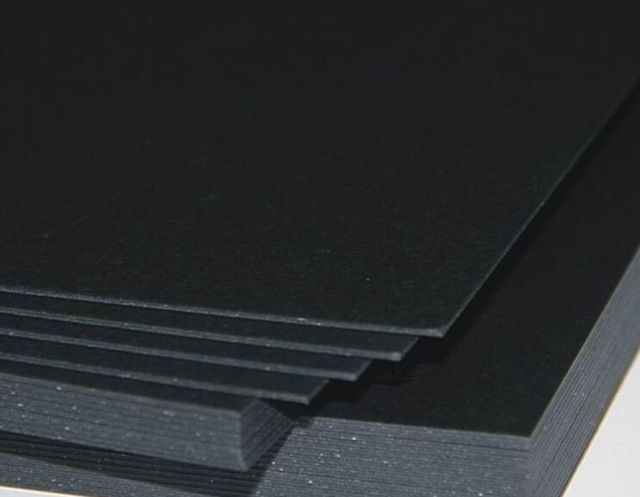 1 10 20 Sheets 1mm Thick Black Chipboard Paper Cardstock