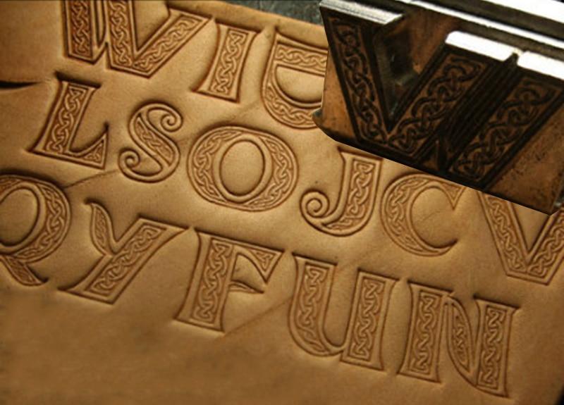 Celtic style La T ne Culture Complete set of 26 letter molds Hand work unique design