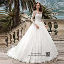 ee4c103a3fb Country Western Wedding Dresses Plus Size Long Sleeve Wedding Gowns Lace  Bridal Dress 2017 Vestido de