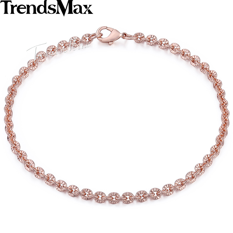 Trendsmax Trendy 3mm CUT Rolo Round Link Womenss