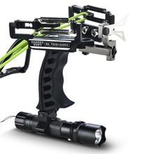 High Quality Velocity Elastic Hunting Fishing Slingshot Shooting Catapult Bow Arrow Rest Sling Shot Crossbow Bolt