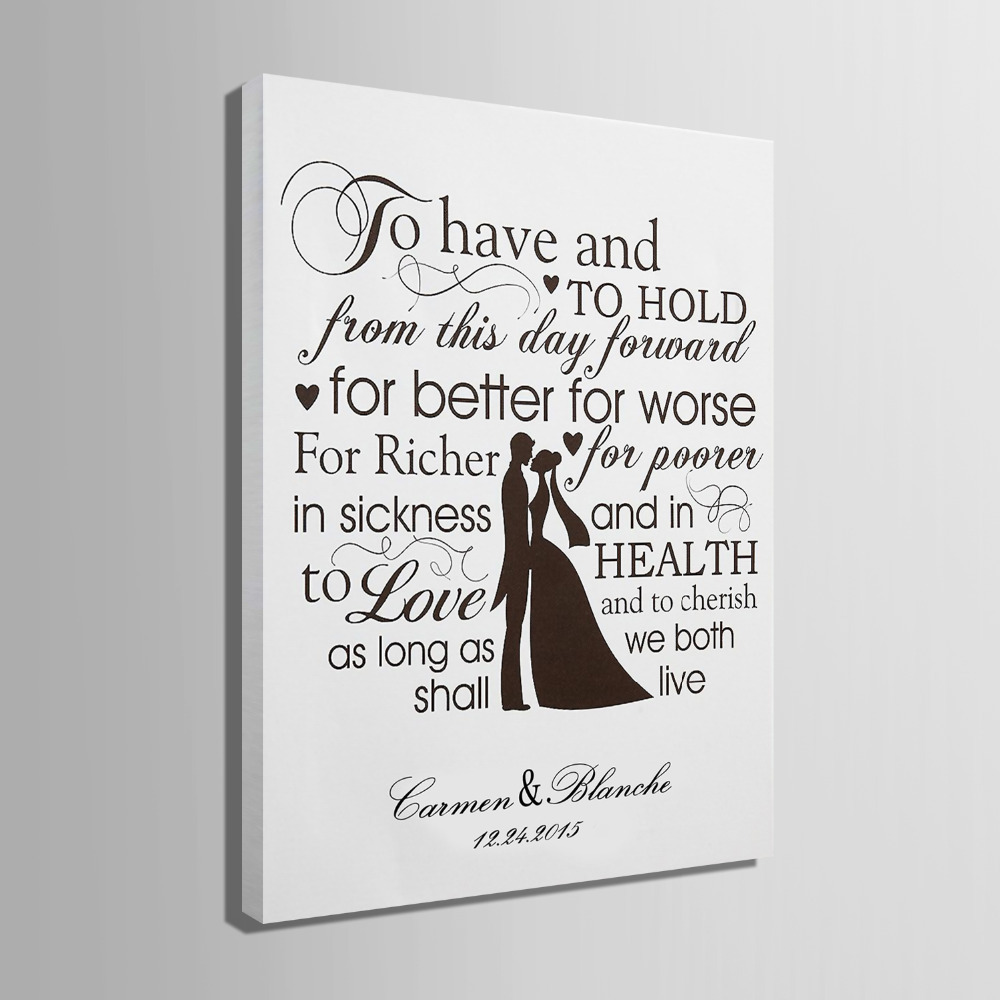 Guest Signature Party Gift Wedding Canvas Signing Board Painting For Better Worse Diy Decoration In Decorations From Home