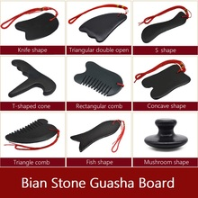 Traditional Natural Bian Stone Body Face Massager Gua Sha Board Acupoint Massage Health