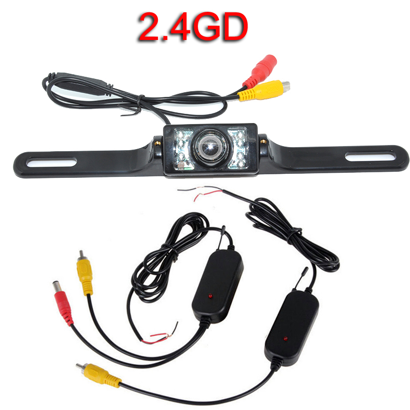цена на Wifi 2.4G Wireless Car Reverse Backup Rear View Parking Camera night vision wide angle 170 degree
