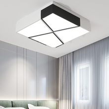 Nordic led lamps modern minimalist atmosphere rectangular bedroom dining room lamp living ceiling