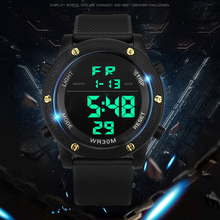 Men LED Watch Relogio Masculino Watches Electronic Digital  Retro Style Military Clock Electronics Mens WirstWatch