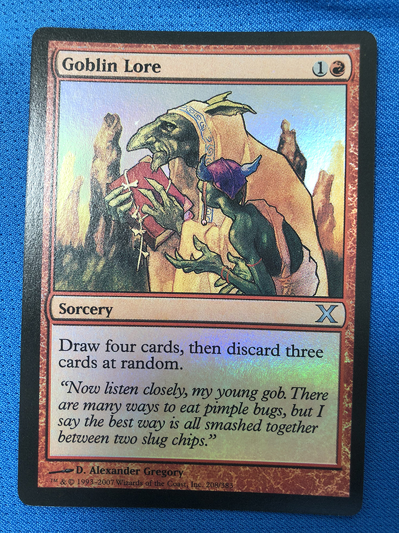 Goblin Lore Tenth Edition Foil Magician ProxyKing 8.0 VIP The Proxy Cards To Gathering Every Single Mg Card.