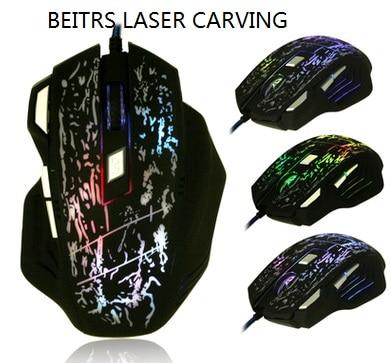 WESAPPA X3II Laser profesional Wired Gdhendës Gaming Mouse 7 Button - Periferikësh të kompjuterit