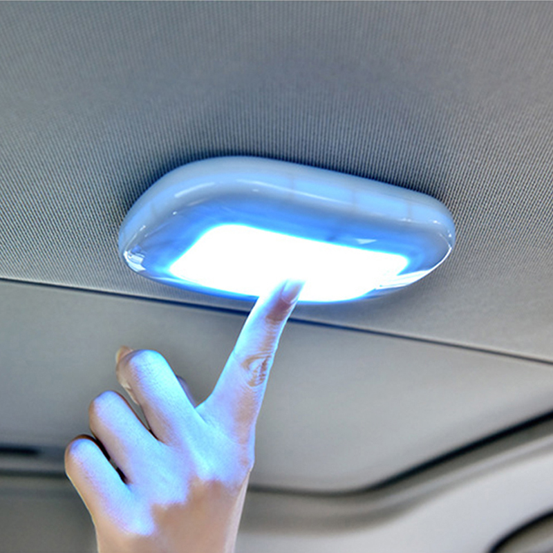 VODOOL Universal USB Aufladbare Weiß/Blau LED Auto Lesen Licht Innen Dach Doom Lampe Magnetische LED Auto Styling Nacht licht