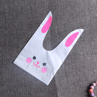 Rabbit Ear Bag 13x22cm Cookie Candy Plastic Pouch 50pcs Lot Suitable For Cake Store Christmas Gift