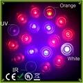 1 pcs espectro completo 54 w orange + ir + uv + branco led horticultura cresce a luz e27 led lâmpada para flor do jardim sistema de hidroponia planta