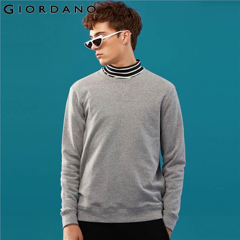 Giordano Men Sweatshirt Solid Pullover Sweatshirt Men Long Sleeve Fashion Terry Mens Clothes Sudadera Hombre Moleton Masculino 4