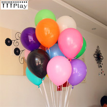 10 pçs/lote 12 Polegada grosso 2.2g festa de aniversário balões decorações casamento látex balão rosa branco globos suprimentos de festa atacado