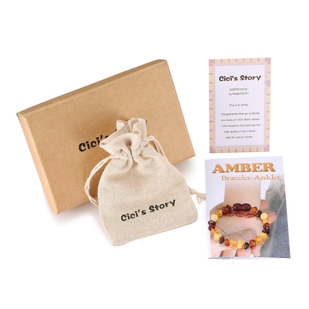 Baltischen Bernstein Zahnen Armband/fußkettchen Für Baby Größe 14-20 Cm-geschenk Box-10 Farben- Labor Getestet