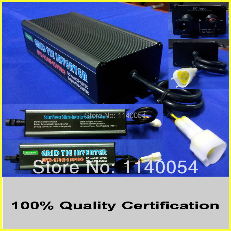 Free shipping 260W 22-60VDC Wide Voltage Solar Grid Tie Micro Inverter, with MPPT Waterproof IP65 Function for 300W Home System 22 50v dc to ac110v or 220v waterproof 1200w grid tie mppt micro inverter with wireless communication function for 36v pv system