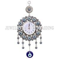 Elephont turco Mal de Ojo Colgante de Pared de Metal De Vidrio Encanto Colgante Amuleto Protector Nazar Reloj Decoración de La Oficina En Casa Ornamento