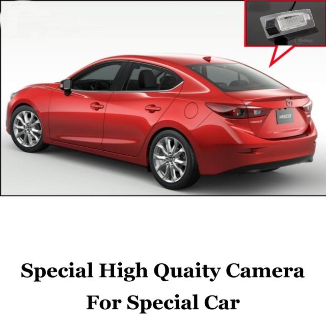 Câmera do carro Para Mazda 3 M3 Axela BM 4D Sedan 2013 ~ 2016 de Alta qualidade Rear View Camera Back Up Para Amigos | CCD com RCA
