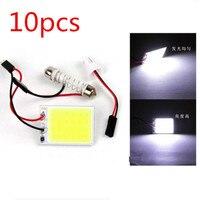 1x White 24 Chips COB LED T10 Festoon Bulbs Interior Dome Car Map Reading Light