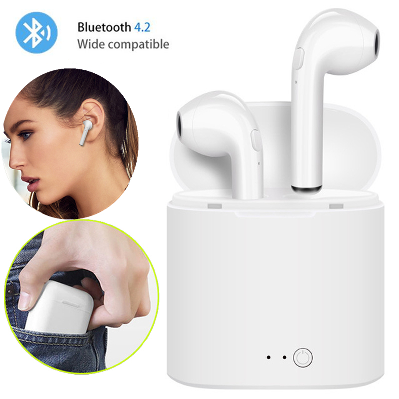 Wireless Bluetooth Earphone i7s TWS Inear Stereo Earbud Headset With Charging Box Mic For Iphone Xiaomi All Smart Phone air pods