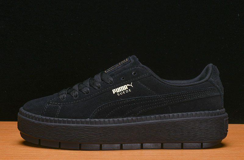 Free shipping PUMA FENTY Suede Cleated Creeper Women's First Generation Rihanna Classic Basket Suede Tone Simple Badminton Shoes