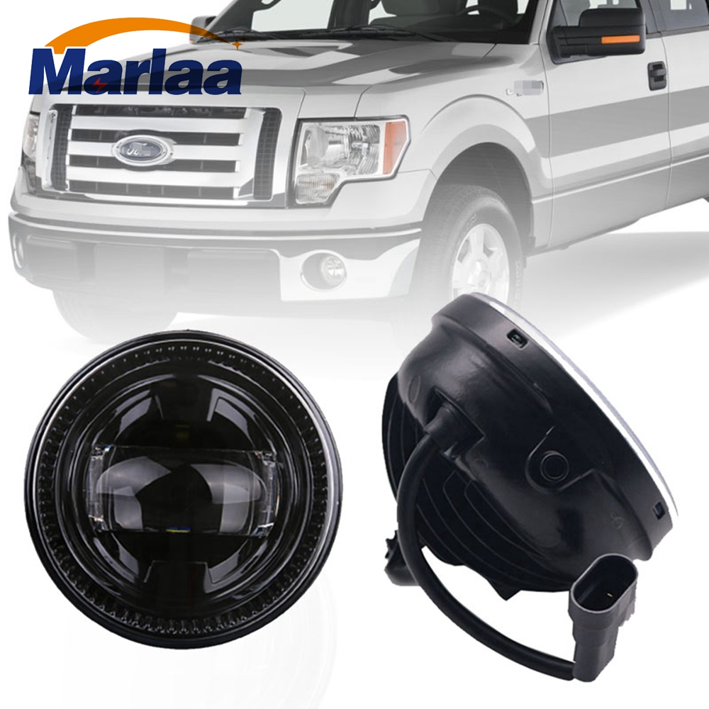 Marlaa R 4 Inch LED Fog Lights Driving Lamps Front Bumper Passing Lights for Ford F-150 2009-2014 Led Fog Lamp Bulb 2pcs