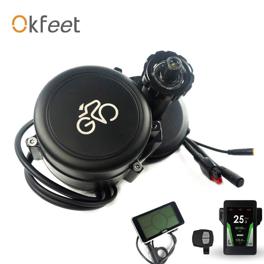 Okfeet tassa su ordinazione libero del GP midmotor sensore di coppia controller integrato potente 48V500W bicicletta elettrica kit di conversione