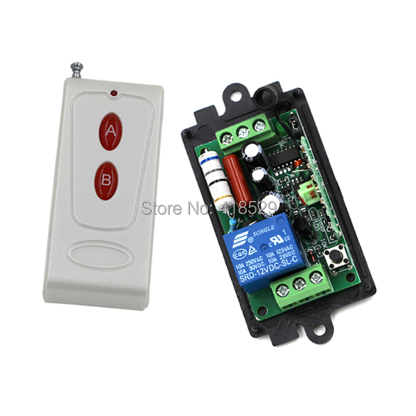 AC110V 220V 1CH RF Wireless Remote Control Switch System 1 Transmitter with 1 Receiver Smart Home Switch SKU: 5063 220v 1ch rf wireless remote control switch system 1 receiver