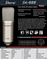 SK888 Better than BM700 ,Top Quality Professional Condenser Sound Studio Recording Microphone Karaoke Computer Wired Mic Dynamic