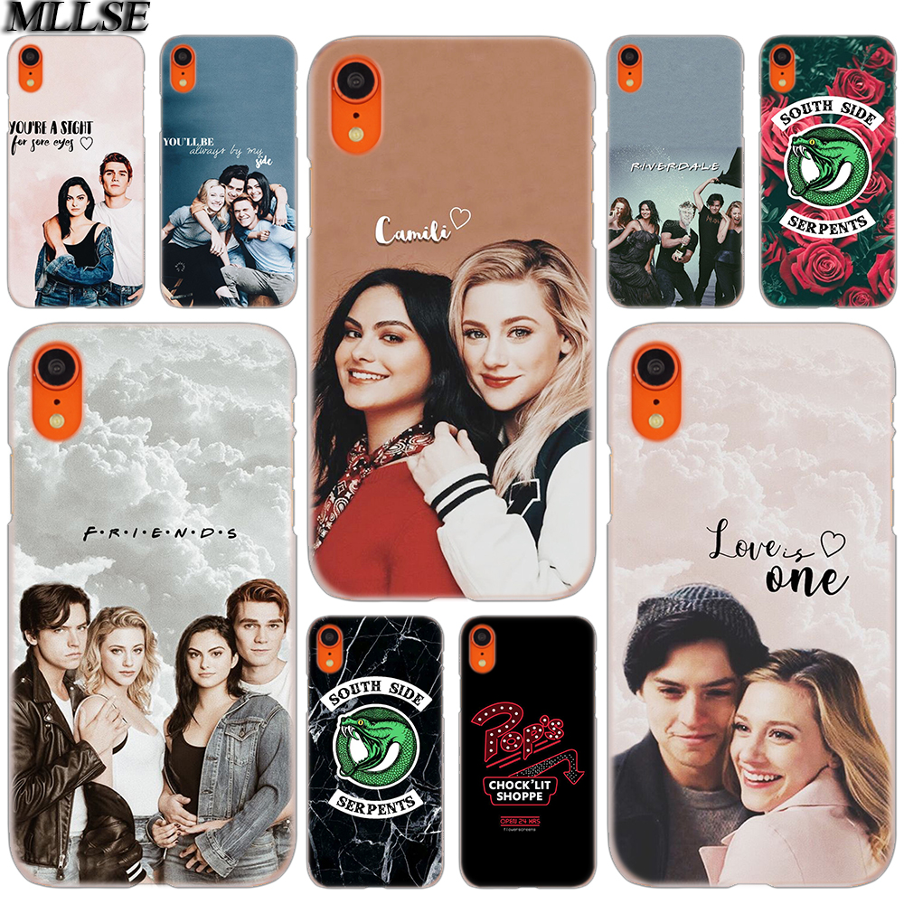 MLLSE <font><b>Riverdale</b></font> South Side Serpents Fashion Cover <font><b>Case</b></font> for <font><b>iphone</b></font> XS Max X XR 8 7 <font><b>6</b></font> Plus 5 SE 5S 5C 4 4S Mobile Phone Bags Hot image