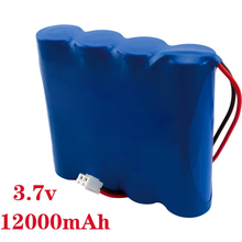 3.7V 12000mah Rechargeable Drone Battery Pack External Power headlamp Flashlight Spare Lithium Batteries