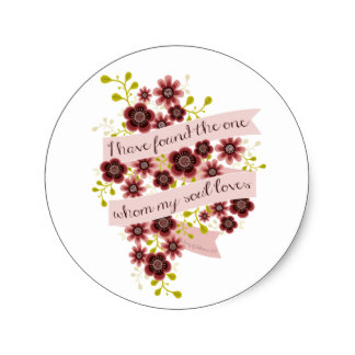 Hair Extensions & Wigs 3.8cm Song Of Solomon Love Quote Romantic Floral Classic Round Sticker