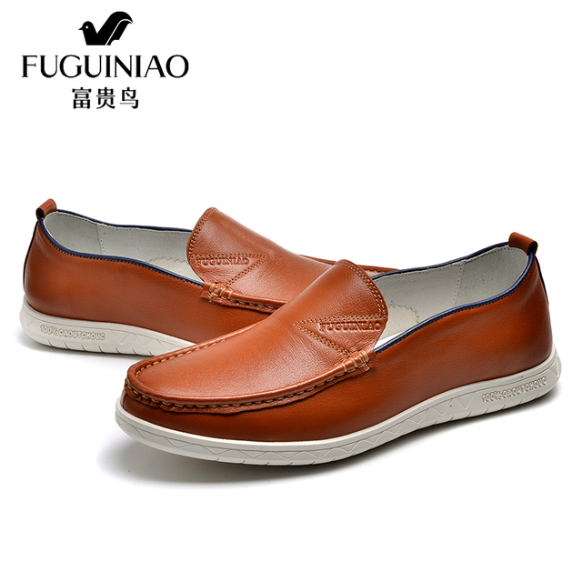 c4dc7988df Homens Marca de moda Couro Genuíno Sapatos Casuais Masculinos Mocassins  Zapatos Hombre Deslizamento Flats Lazer Preto